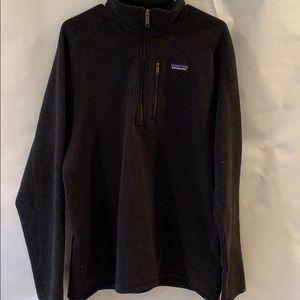 Patagonia MENS Black 1/4 zip better sweater -large